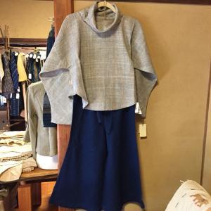○ うさとの服 メンズトップス 藍染め 作務衣