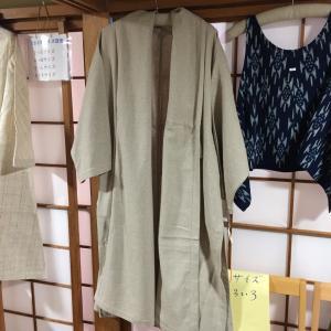 ○ うさとの服 オータム祭り ヘンプのコート 藍染め 長袖プルオーバー