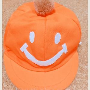 保育園帽子をアップリケでデコってみました(ぷー・男の子用)