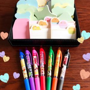 可愛い付箋と香りペン