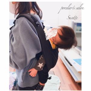 【ポーセラーツ】生後6ヶ月の息子くんを連れていらしてくれました。これから仕切りプレー...