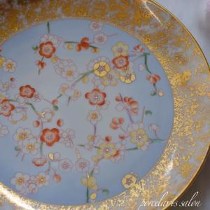 【my work】そういえばこのお皿、金の花を入れるんだった忘れていて最近やっと...