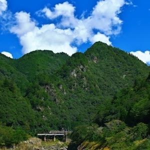 高山本線 飛水峡を行く キハ85 「ワイドビューひだ号」 その2 青空の下