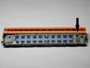 TOMIX キハ26系に室内灯2―「L字集電」