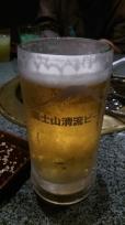 焼肉あみやき亭のビール「富士山清流ビール」