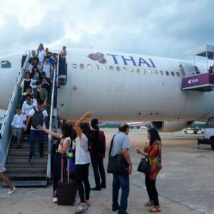タイ航空国内線エコノミークラスの旅 バンコク⇒クラビ