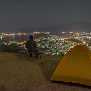 テン泊登山で高知市光害実感