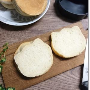 【ねこパン】セリアで発見パンケーキモールドで…と王子は発熱無しの手足口病!