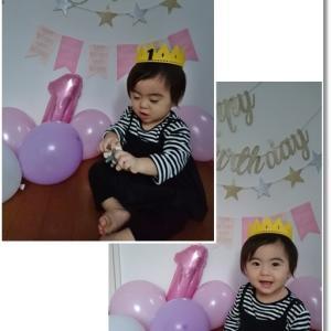 王子&姫のやっと撮れた誕生日写真と我が家のXmas飾りは百均で♪