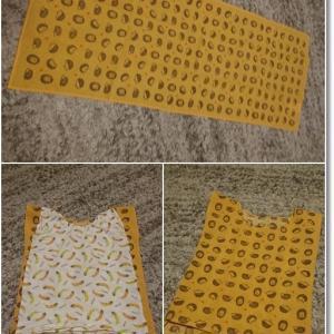 【100均】手拭いで1歳児めっちゃ簡単な服(パジャマ)作り♪とカカに聞いてんの!