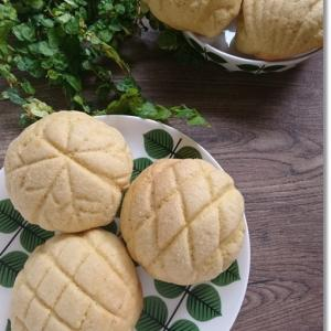 【天ぷら粉】粗糖で季節外れな雪の結晶メロンパンと初zoomママ友茶会