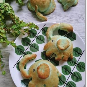 【からすのパン屋さん】ぞうパン2種類と王子が急に指ハートをしてニヤつく母(笑)