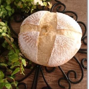 カカ丸いパン作って!と言われカンパーニュ焼いたけど。。。と王子と姫が戴いた物