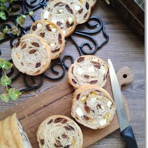 【ワンオペのパン作り時間割】レーズンとオレンジとクリチのラウンドパンとプールバッグ