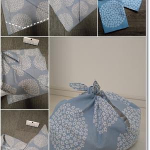 【5分で完成】セリアの手拭い2ヶ所縫うだけ!あずま袋と「買って」と言わせないおやつ