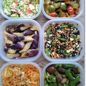 【今週の常備菜】野菜ばっかり常備菜とダンナさんの釣果飯で姫が拗ねる(笑)