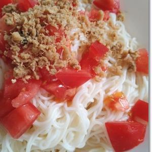 【ライフハック】素麺の袋は…めちゃ旨☆トマトとさばの大葉オイルそうめんとコロナ禍の習い事