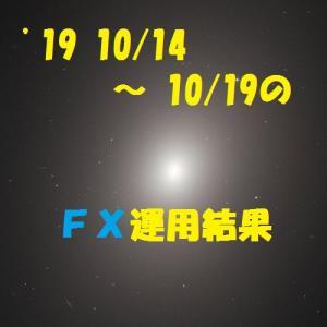 【FX】'19 10/14 ~ 10/19の運用結果