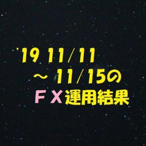 【FX】'19 11/11 ~ 11/15の運用結果