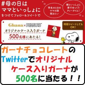 【節約生活】ガーナチョコレートのTwitterでオリジナルケース入りガーナが500名に当たる!!