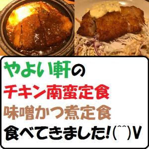 【グルメ】やよい軒のチキン南蛮定食・味噌かつ煮定食!食べてきました!!(^^)V