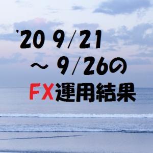 【FX】'20 9/21 ~ 9/26の運用結果