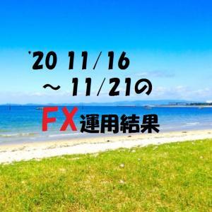 【FX】'20 11/16 ~ 11/21の運用結果