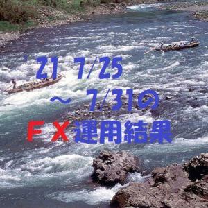 【FX】'21 7/25 ~ 7/31の運用結果
