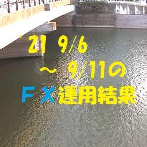 【FX】'21 9/6 ~ 9/11の運用結果