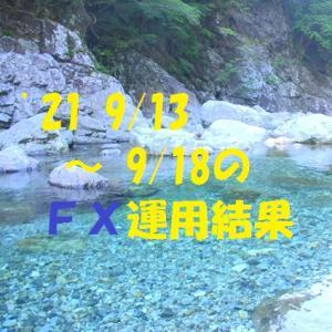 【FX】'21 9/13 ~ 9/18の運用結果