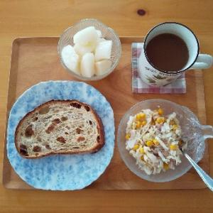 酢キャベツの朝食その2