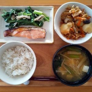 秋鮭の塩麹漬けの昼食