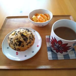 マフィンの朝食