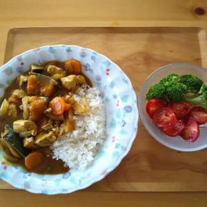 カレーライスの昼食