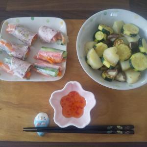 生春巻きの昼食