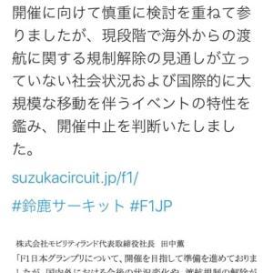 F1日本GP、2020年は中止が確定
