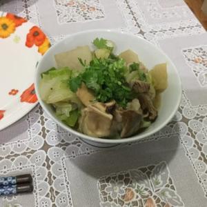 今日の一品 中華風モツ煮(杂碎、ザースイ)