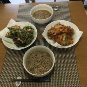 今日の一品 急に食べたくなった野菜天ぷら蕎麦