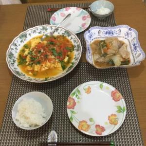 今日の一品 家内の手料理 中華風トマトオムレツ