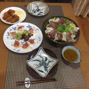 今日の一品 誕生日の夕飯