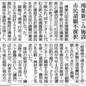 ごみ処理新施設建設費安くするため行田市所有の場所と比較検討せよという市民の請願否決。これで協議がすんなりと進むのか。いや混迷が続くのか・・・