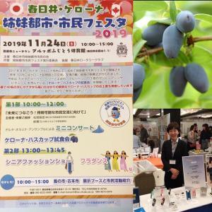 11月24日春日井・ケローナ姉妹都市市民フェスタのイベントに出展
