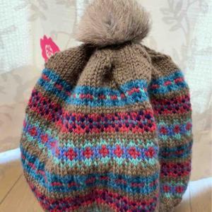 編み込み帽子完成してます!とリトアニア旅行。