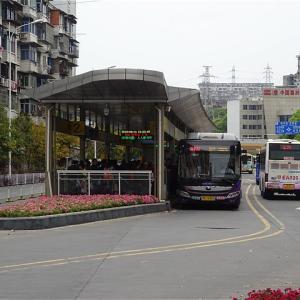 宜昌快速公交 葛洲坝站(宜昌BRT 葛洲坝バス停)