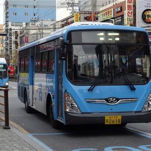 トンネル経由で海側へショートカット! 釜山市内バス15番 西部市外BT(沙上駅)→釜山デパート