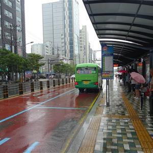釜山市 下端駅バス停(市内バス)