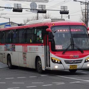 議政府BRTを走る座席バス! 楊州市直行座席バス1100番 道峰山駅広域乗換センター→徳亭駅