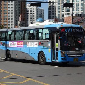 漢江新都市からソウル駅へ乗り換えなし! 広域急行バスM6117番 九来駅→ソウル駅
