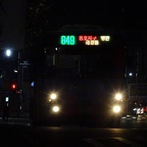 大邱市郊外を循環するバス路線! 大邱市内バス849番 晩村2洞住民センター→江辺東西マウル前