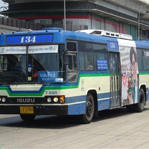 MRT開業後も地域の足として活躍! BMTA 134番 MRTクローンバーンパイ駅→モーチット2